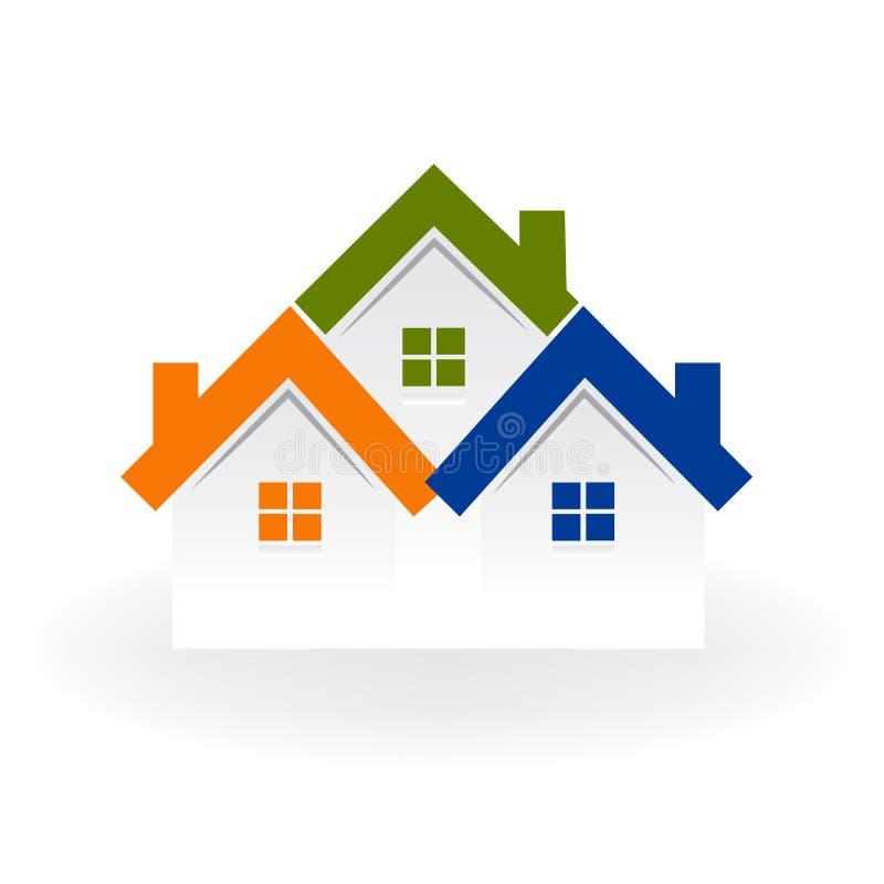 Image de carte d'identification de conception d'illustration de vecteur d'icône de carte d'entreprise immobilière de maisons de l illustration libre de droits