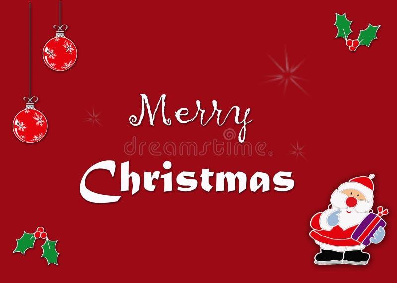Image de carte de voeux de Santa photo stock