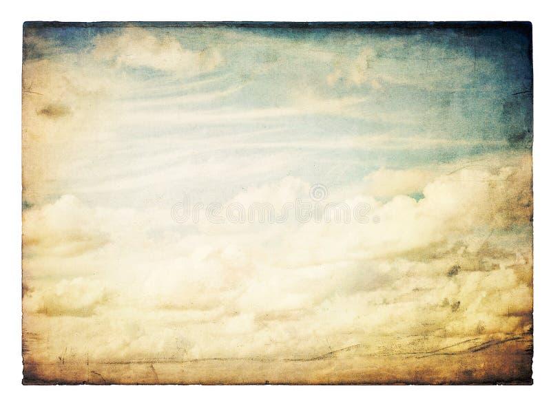 Image de ciel de cru, d'isolement. illustration libre de droits