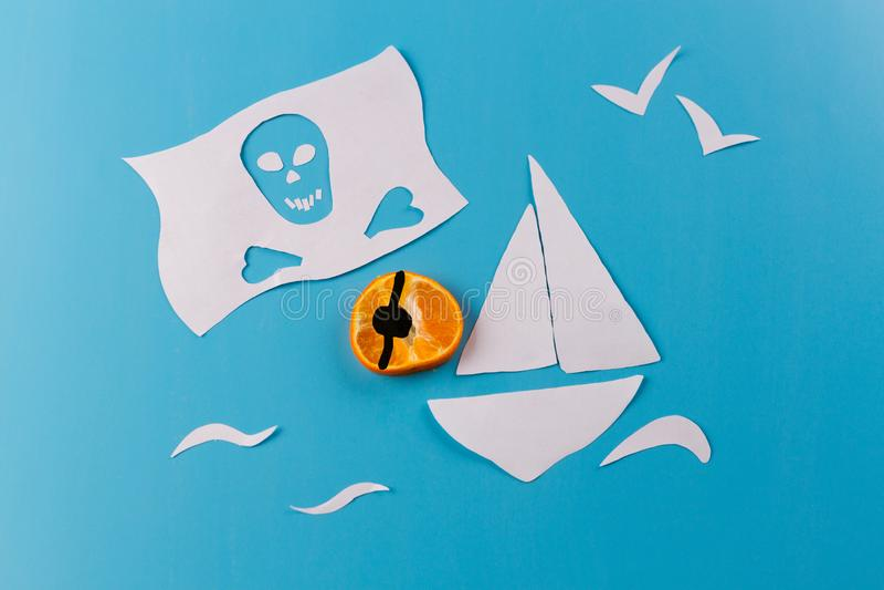image de concept de bateau de pirate photo libre de droits