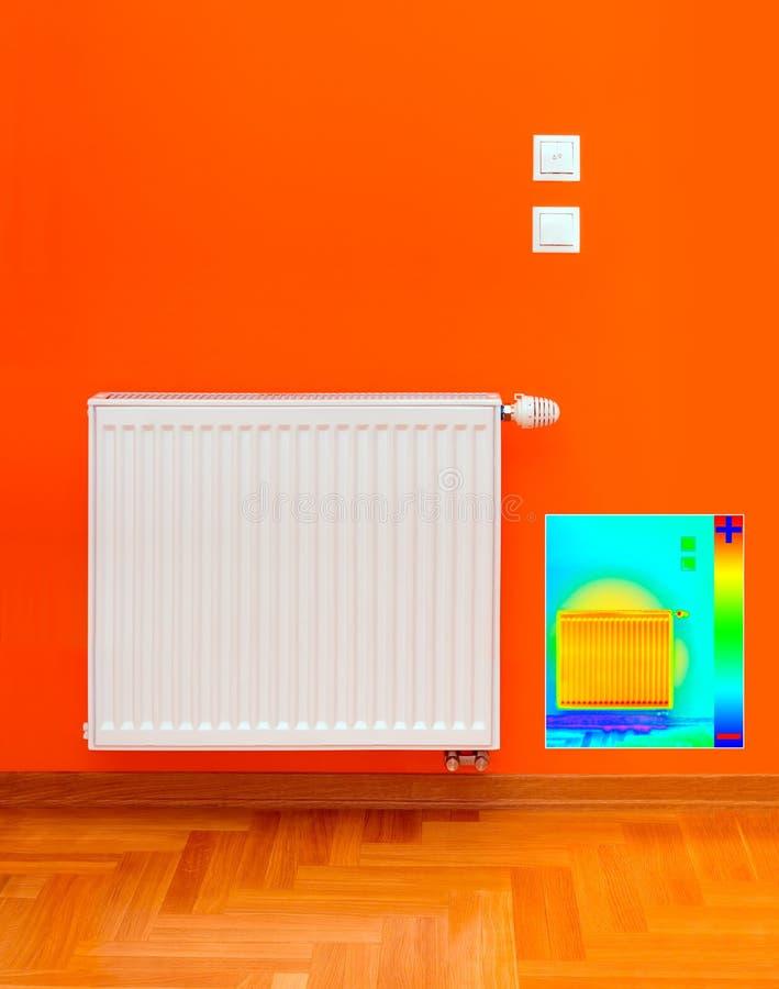 Image de courant ascendant de chaufferette de radiateur photographie stock