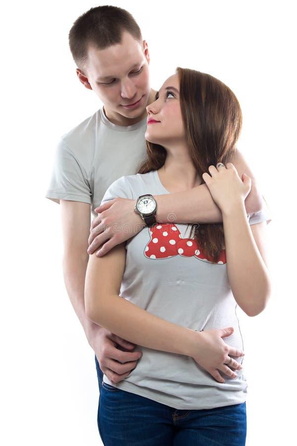 Image de deux adolescents enamourés photo stock