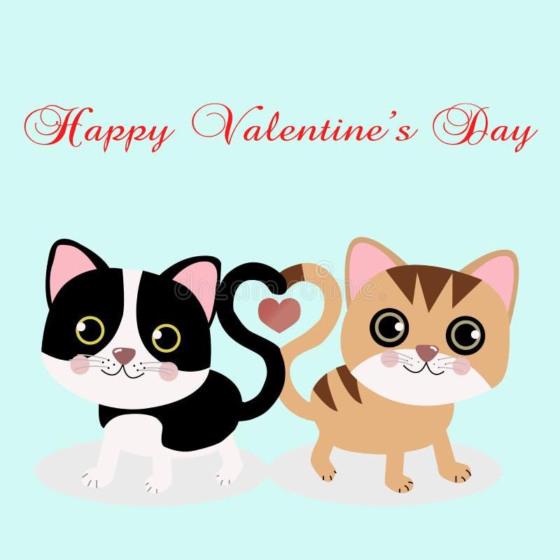 Image de deux chats dans l'amour illustration stock
