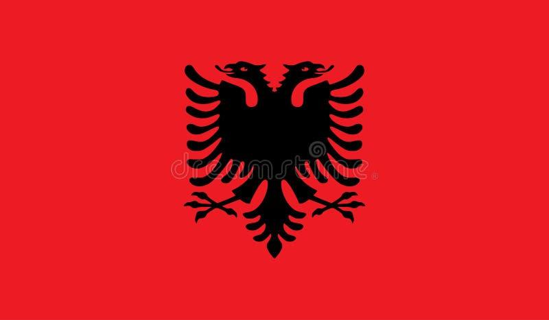 Image de drapeau de l'Albanie illustration libre de droits