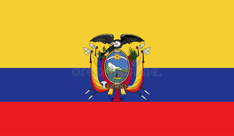 Image de drapeau de l'Equateur illustration de vecteur