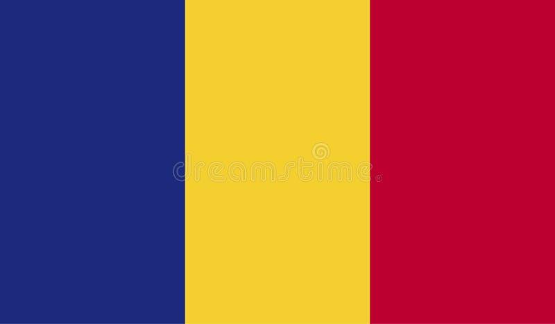 Image de drapeau de la Roumanie illustration de vecteur