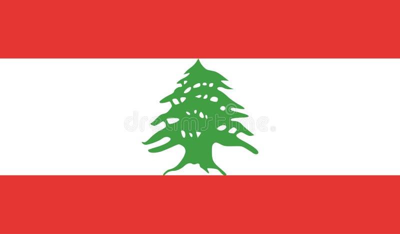 Image de drapeau du Liban illustration libre de droits
