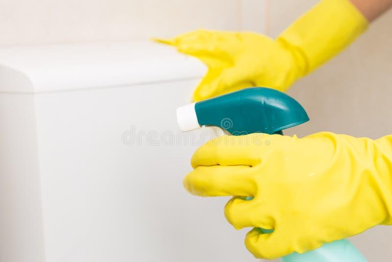 Image de foyer sélectif de jet désinfectant photo stock