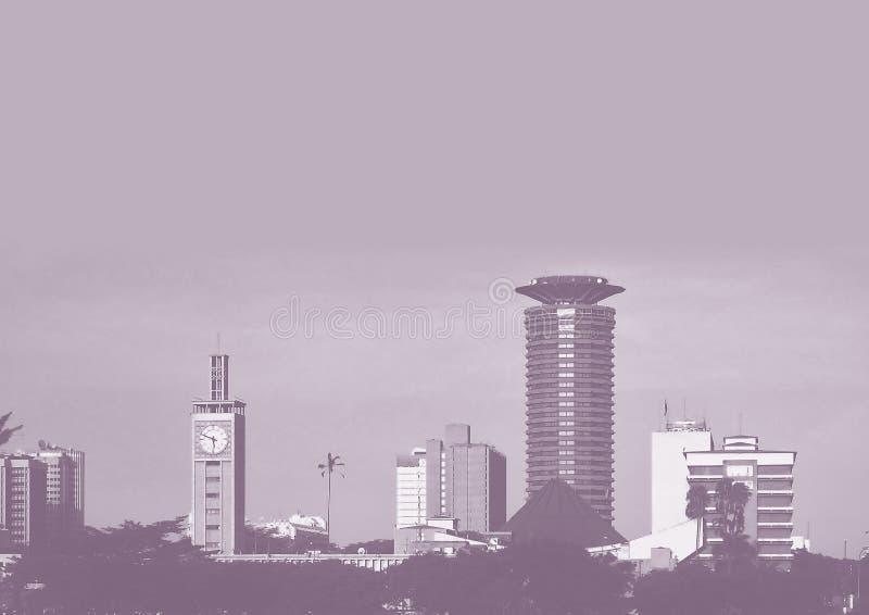 Image de gamme de gris de ville de Nairobi images libres de droits