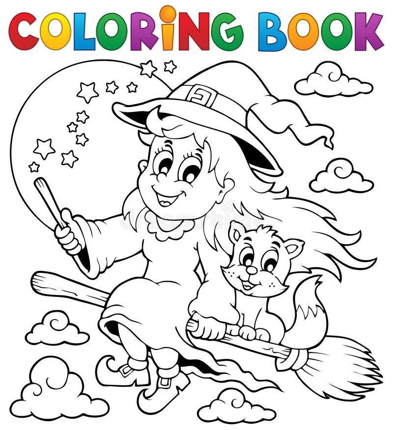 Image 1 de Halloween de livre de coloriage illustration libre de droits