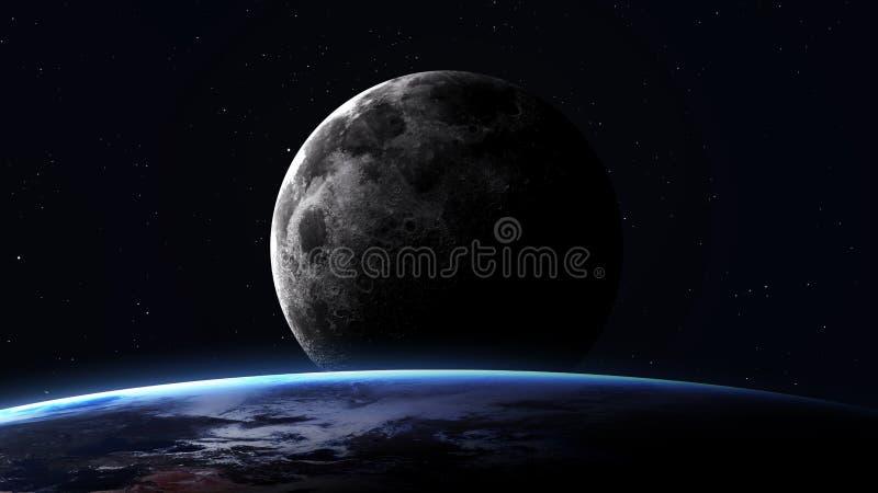 Image de haute résolution de la terre dans l'espace éléments illustration de vecteur
