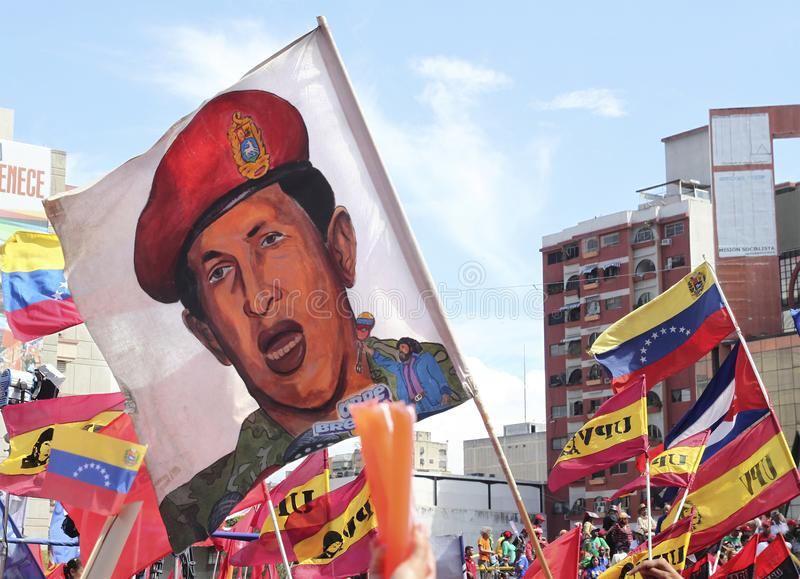 Image de Hugo Chavez image stock