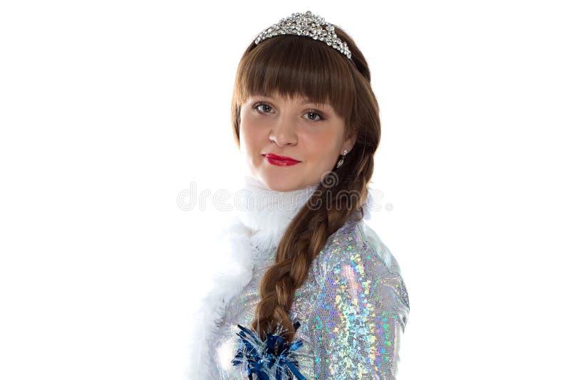 Image de jeune fille mignonne de neige images libres de droits