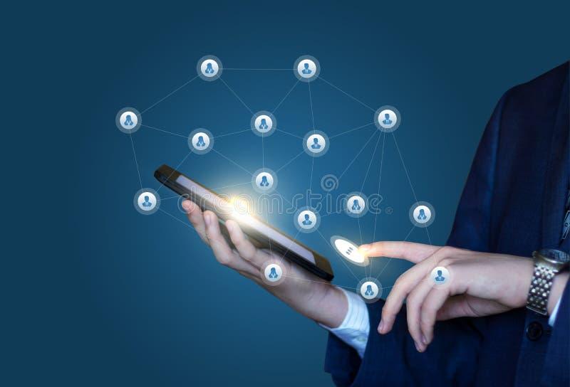 Image de l'icône virtuelle émouvante de message du réseau social illustration libre de droits
