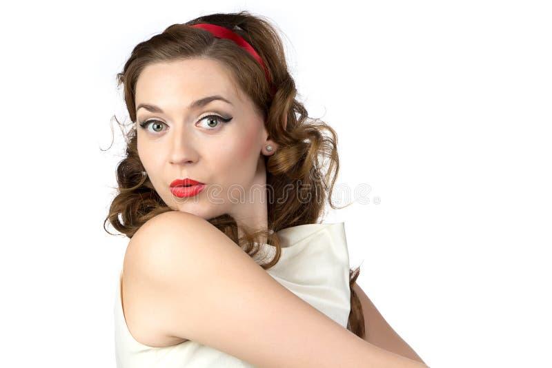 Image de la femme étonnée mignonne photo libre de droits