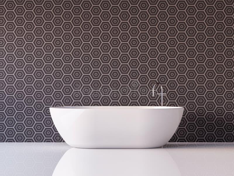 Image de luxe moderne de rendu de la salle de bains 3d illustration stock