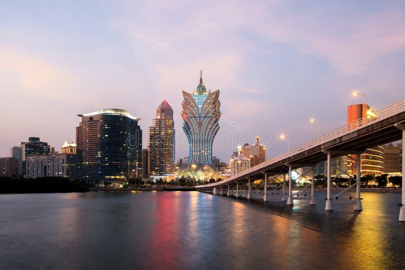 Image de Macao Macao, Chine Construction d'hôtel et de casino de gratte-ciel photos libres de droits