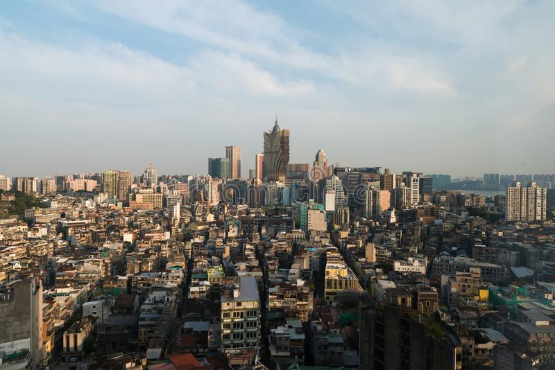 Image de Macao Macao, Chine Construction d'hôtel et de casino de gratte-ciel images stock