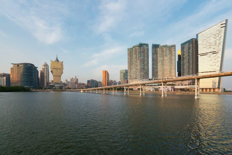 Image de Macao Macao, Chine Construction d'hôtel et de casino de gratte-ciel photographie stock libre de droits