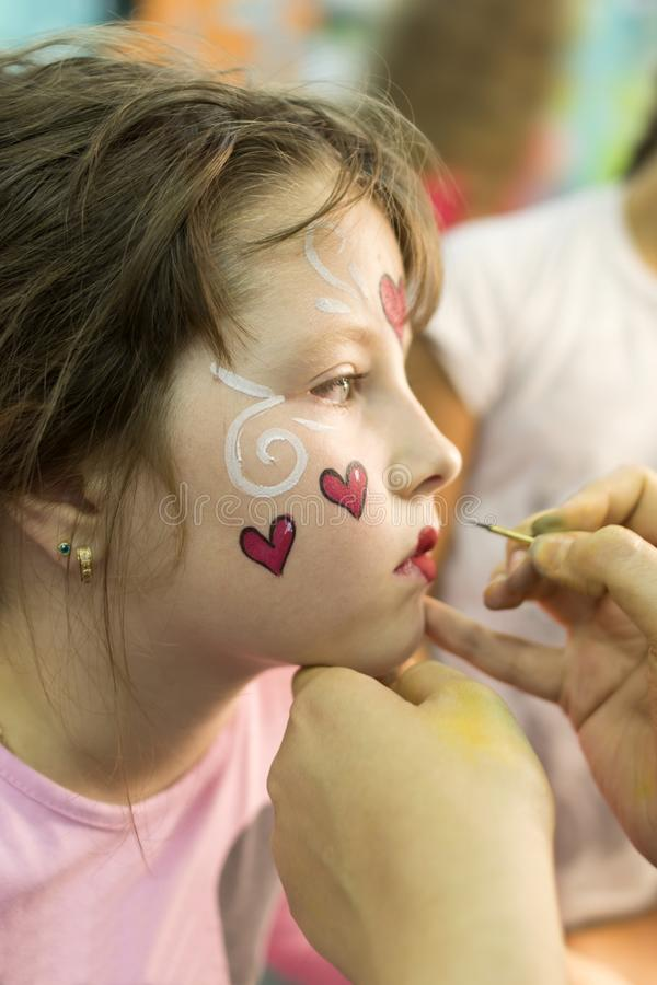 Image de maquillage du ` s d'enfants photographie stock libre de droits
