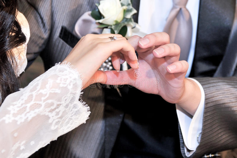 Image de mariage de l'amour éternel image stock