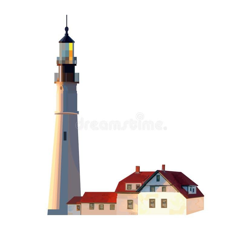 Image de phare sur un fond blanc illustration de vecteur