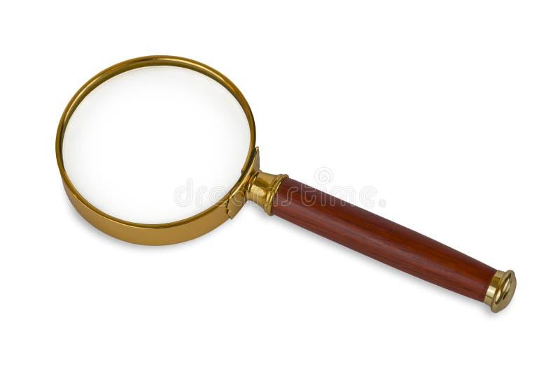 Image de plan rapproché d'une loupe d'isolement photographie stock libre de droits