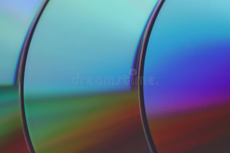 Image de plan rapproché de ROM de DVD photographie stock