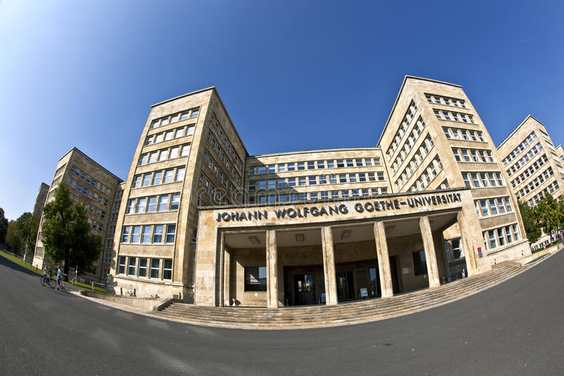 image de Poisson-oeil de l'ancien bâtiment d'IG Farben, maintenant il loge l'université de Goethe photographie stock