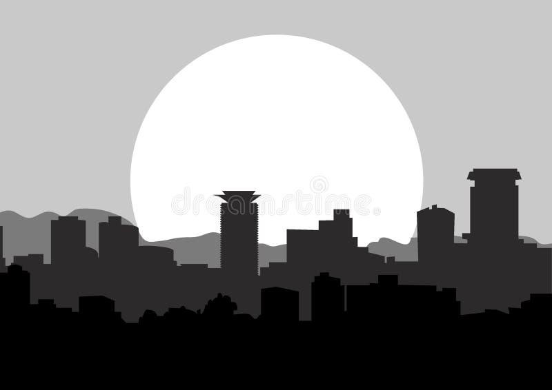 Image de silhouette d'horizon de Nairobi illustration de vecteur