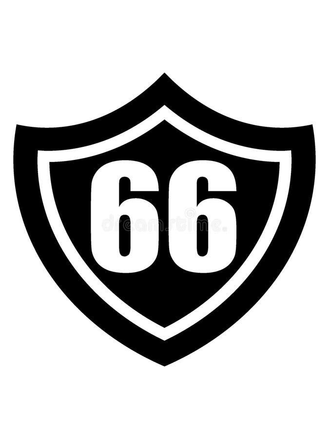 Image de silhouette d'un signe de Route 66 illustration stock