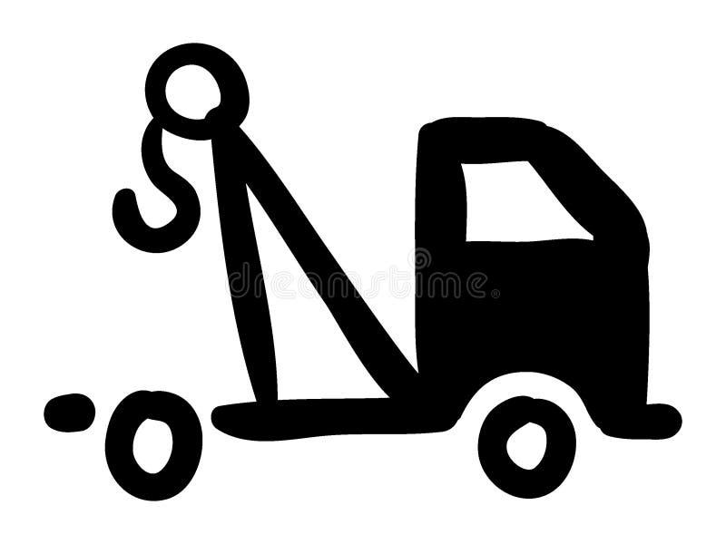 Image de silhouette de véhicule d'une dépanneuse illustration libre de droits