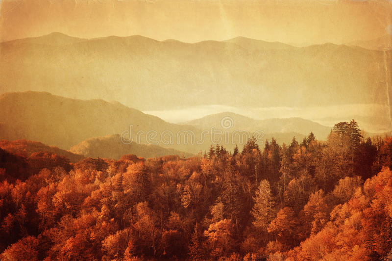 Image de style ancien de parc national de Great Smoky Mountains photos libres de droits
