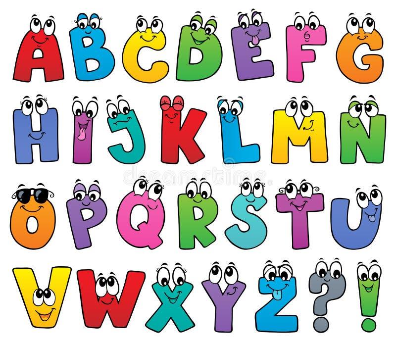 Image 1 de sujet d'alphabet de bande dessinée illustration libre de droits