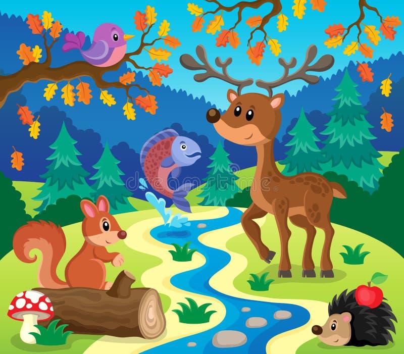 Image 1 de sujet d'animaux de forêt illustration stock
