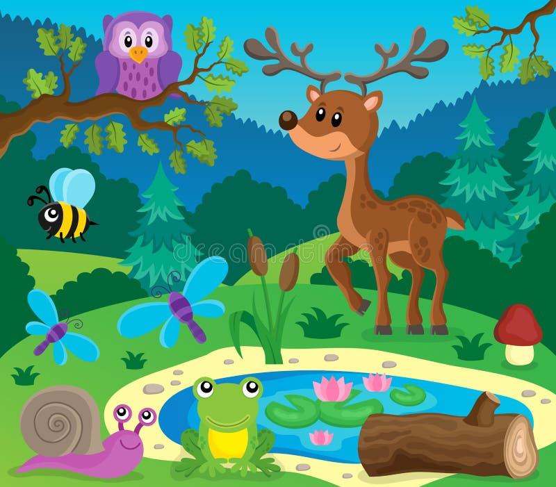 Image 9 de sujet d'animaux de forêt illustration libre de droits