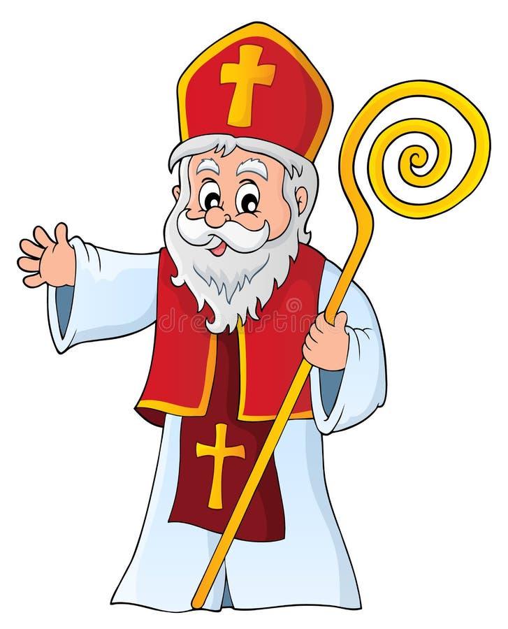 Image 1 de sujet de Saint-Nicolas illustration stock
