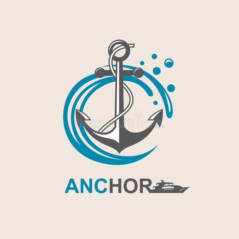 Image de symbole d'ancre illustration libre de droits