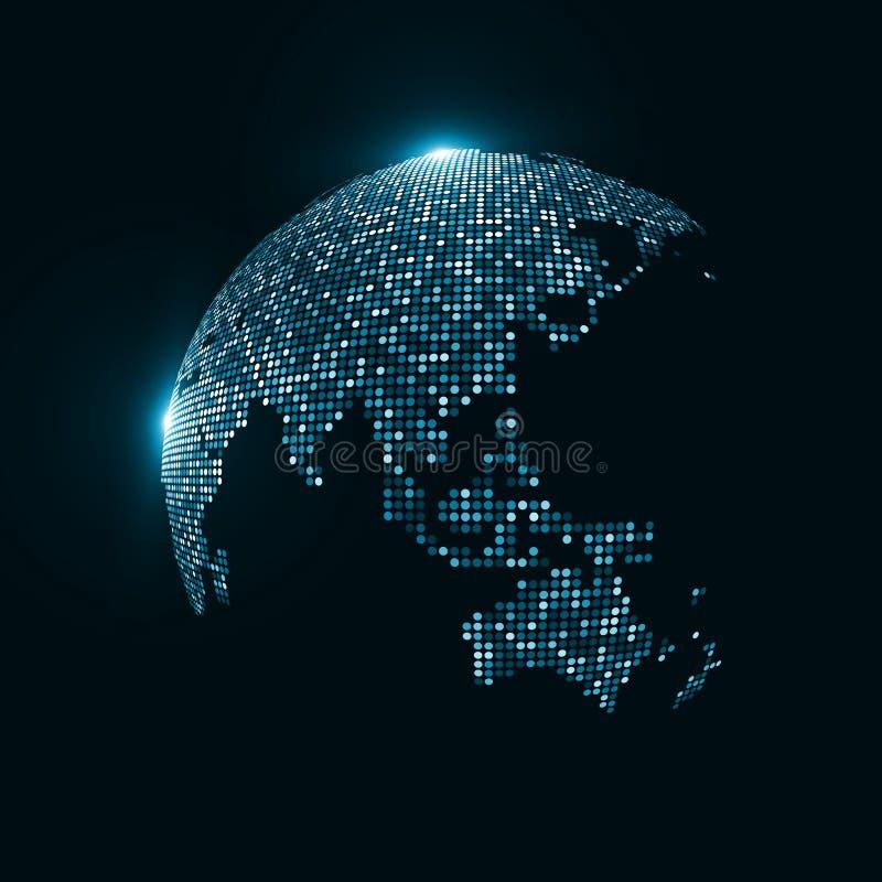 Image de technologie de globe illustration de vecteur