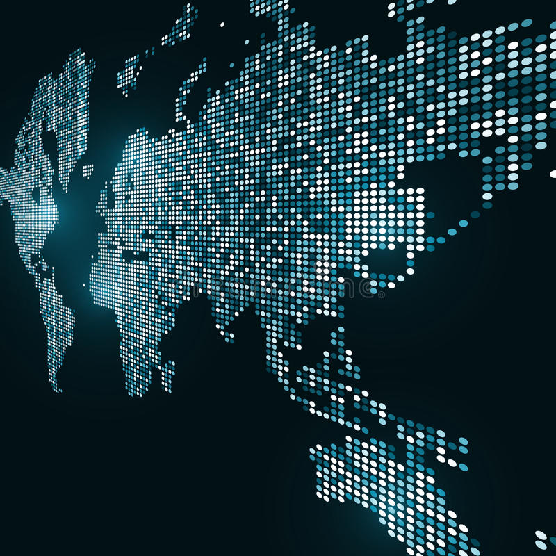Image de technologie de globe illustration libre de droits
