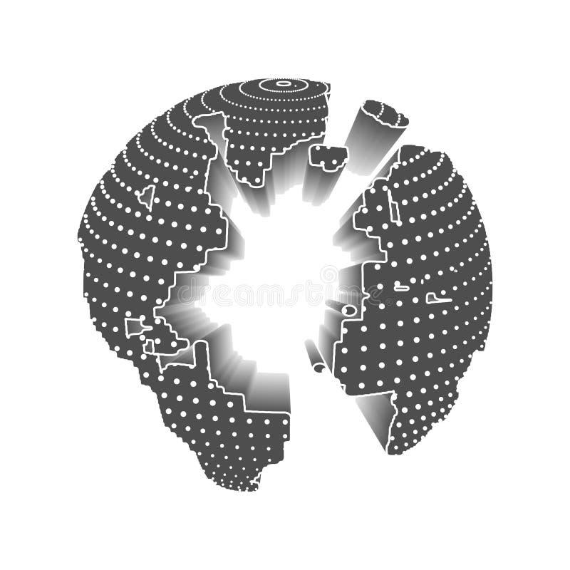 Image de technologie de globe illustration stock