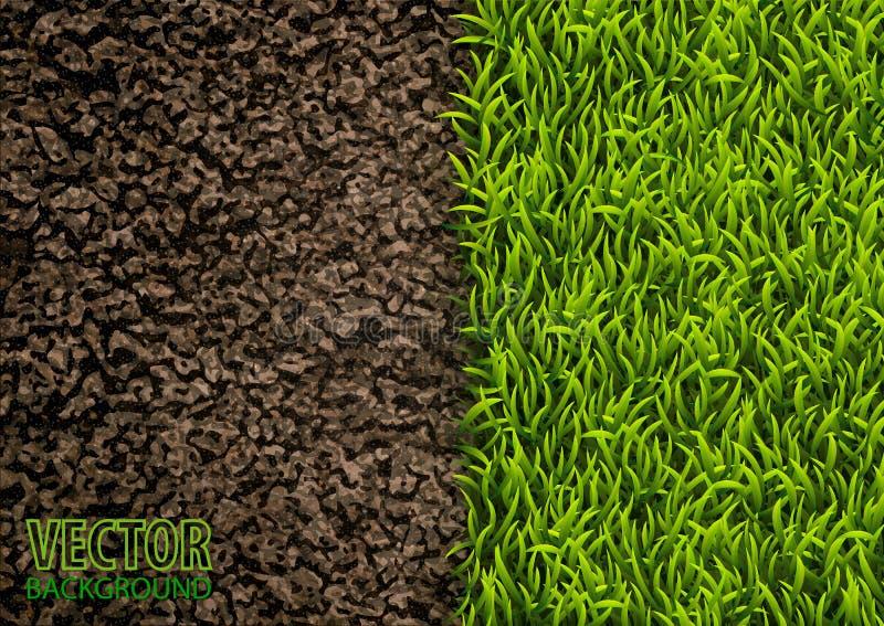 Image de texture de sol et d'herbe verte Texture normale Vue supplémentaire Fond de nature d'illustration de vecteur illustration de vecteur