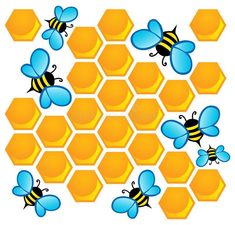 Image de thème d'abeille illustration libre de droits