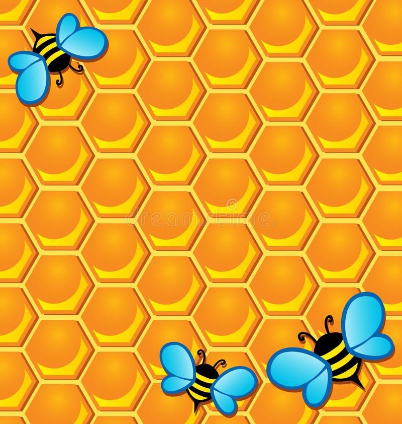 Image de thème d'abeille illustration stock