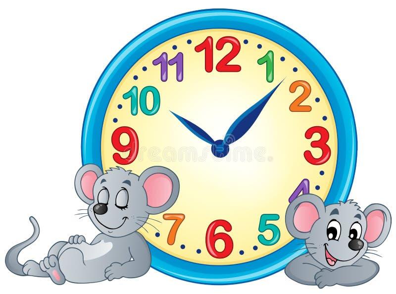 Image 4 de thème d'horloge illustration stock