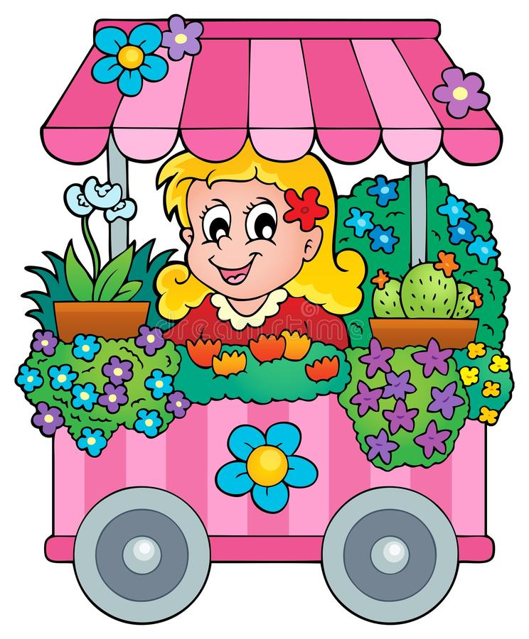 Image 1 de thème de fleuriste illustration de vecteur