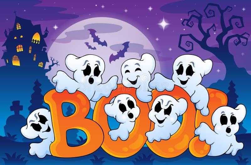 Image 6 de thème de Ghost illustration stock