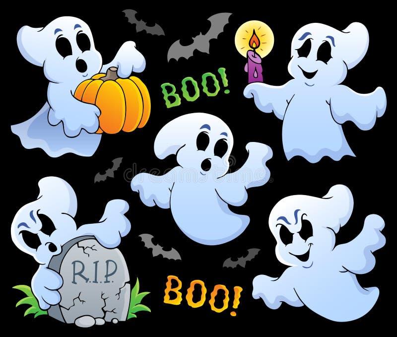 Image 8 de thème de Ghost illustration stock