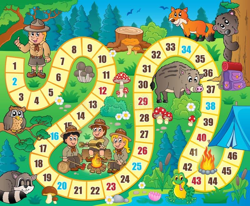Image 8 de thème de jeu de société illustration de vecteur