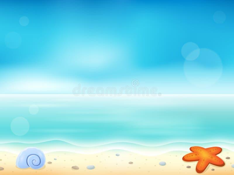 Image 1 de thème de plage illustration stock